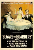 "Movie Posters, Beware of Boarders (Paramount, 1918). One Sheet (28"" X 41"").. ..."