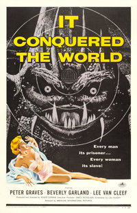 "It Conquered the World (American International, 1956). One Sheet (27"" X 41"")"