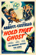 "Movie Posters:Comedy, Hold That Ghost (Universal, 1941). One Sheet (27"" X 41"").. ..."