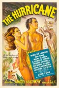 "Movie Posters:Adventure, The Hurricane (United Artists, 1937). One Sheet (27"" X 41"").. ..."