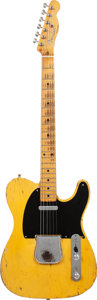 Musical Instruments:Electric Guitars, 1953 Fender Telecaster Butterscotch Solid Body Electric Guitar,Serial # 2978, Weight, 7 lbs....