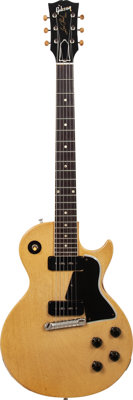1956 Gibson Les Paul Special TV Yellow Solid Body Electric Guitar, Serial # 6 4332, Weight 7.4 lbs