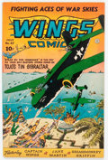 Golden Age (1938-1955):War, Wings Comics #47 (Fiction House, 1944) Condition: VF....