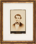 Photography:Cabinet Photos, Abraham Lincoln: Distinctive and Bold Cabinet Card....