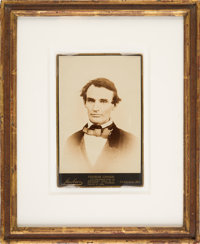 Abraham Lincoln: Distinctive and Bold Cabinet Card