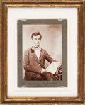 Photography:Cabinet Photos, Abraham Lincoln: Boudoir Card of 1854 Photograph....