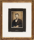 Photography:Studio Portraits, Abraham Lincoln: Studio Portrait Copy Image....