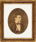 """Photography:Studio Portraits, Abraham Lincoln: """"Tousled Hair"""" Albumen Reprint or Copy Image by Ayres...."""
