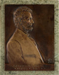 Antiques:Decorative Americana, Abraham Lincoln: Victor David Brenner Bronze Plaque. ...