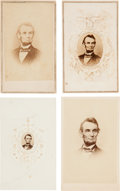 "Photography:CDVs, Abraham Lincoln: ""Berger Portrait"" Cartes-de-Visite.... (Total: 4 Items)"