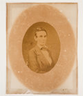 Photography:Studio Portraits, Abraham Lincoln: Mounted Oval Albumen Photograph....