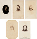 Photography:CDVs, Mary Todd Lincoln: Assorted Carte-de-Visite Images.... (Total: 5 Items)