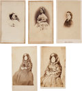 Photography:CDVs, Mary Todd Lincoln: Assorted Cartes-de-Visite.... (Total: 5 Items)