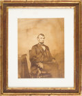 Photography:Studio Portraits, Abraham Lincoln: Imperial Albumen Photograph by Brady....