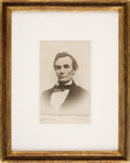 Photography:Cabinet Photos, Abraham Lincoln: Rare Image Cabinet Card....