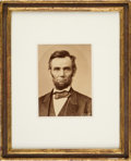 Photography:Cabinet Photos, Abraham Lincoln: Moses Rice Reprint Cabinet Card....