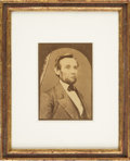 Photography:Cabinet Photos, Abraham Lincoln: C. S. German Cabinet Card....