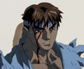 Animation Art:Production Cel, Street Fighter Zero Ryu Anime Production Cels and Matching Animation Drawings Group of 4 (Group TAC, 2000).... (Total: 4 Original Art)
