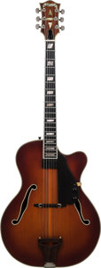 Musical Instruments:Electric Guitars, 1978 Carl Barney Deluxe Sunburst Archtop Electric Guitar, Weight 7.5 lbs....