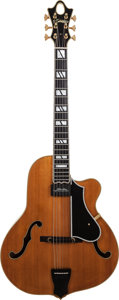 Musical Instruments:Electric Guitars, 1995 Ross Teigen Natural Semi-Hollow Body Electric Guitar, Serial #9552, Weight: 5.2 lbs....