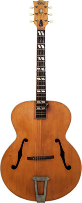 1947 Gibson L7 Natural Archtop Acoustic Guitar, Serial # 99095