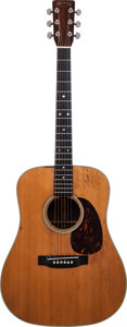 Musical Instruments:Acoustic Guitars, 1968 Martin D-28 Natural Acoustic Guitar, Serial # 248180....