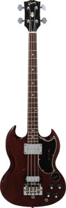 Musical Instruments:Bass Guitars, 1967 Gibson EB-3 Cherry Electric Bass Guitar, Serial # 540290, Weight: 7.6 lbs....