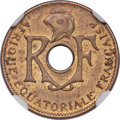 French Equatorial Africa, French Equatorial Africa: French Colony aluminum-bronze 5 Centimes1943 MS63 NGC,...