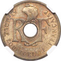 French Equatorial Africa, French Equatorial Africa: French Colony aluminum-bronze 25 Centimes1943 MS63 NGC,...