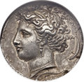 Ancients:Greek, Ancients: SICILY. Syracuse. Time of Dionysius I (405-367 BC). AR decadrachm (33mm, 43.08 gm, 3h)....