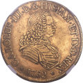 Chile, Chile: Charles III gold 8 Escudos 1762 So-J AU55 NGC,...