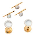 Estate Jewelry:Other , Art Deco Mother-of-Pearl, Platinum-Topped Gold Dress Set, Larter and Sons. ... (Total: 5 Items)