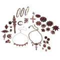 Estate Jewelry:Lots, Bohemian Garnet, Glass, Gold, Silver Vermeil, Base Metal Jewelry. ... (Total: 31 Items)