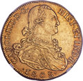 Colombia, Colombia: Charles IV gold 8 Escudos 1802 NR-JJ MS62 NGC,...