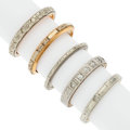 Estate Jewelry:Rings, Art Deco Diamond, Platinum, Gold Rings. . ... (Total: 5 Items)