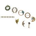 Estate Jewelry:Lots, Antique Diamond, Seed Pearl, Enamel, Gold Jewelry. ... (Total: 9 Items)