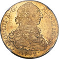 Chile, Chile: Charles IV gold 8 Escudos 1792 So-DA MS61 NGC,...