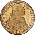 Chile, Chile: Ferdinand VII gold 8 Escudos 1815 So-FJ MS63+ NGC,...