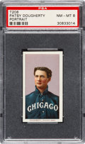 Baseball Cards:Singles (Pre-1930), 1909-11 T206 Sweet Caporal Patsy Dougherty (Portrait) PSA NM-MT 8 -Only One Higher. ...