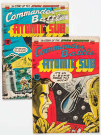 Commander Battle And The Atomic Sub #3 and 4 Group (ACG, 1954-55).... (Total: 2 Comic Books)