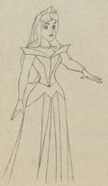 Animation Art:Production Drawing, Sleeping Beauty Princess Aurora Production Drawing (WaltDisney, 1959). ...