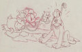 Animation Art:Production Drawing, Donald and Pluto Layout Drawing (Walt Disney, 1930s). ...