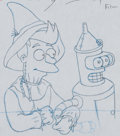 Animation Art:Production Drawing, Futurama Fry Production Drawing (Fox, 2000).... (Total: 2Items)