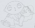 Animation Art:Production Drawing, Family Guy Stewie Production Drawing (Fox Studio, 2001). ...(Total: 2 Items)