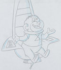 Animation Art:Production Drawing, The Jetsons: The Movie Mr. Spacely Production Drawing(Hanna-Barbera, 1990). ...