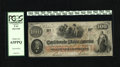 Confederate Notes:1862 Issues, T41 $100 1862. This delightful note received interest rubberstampings in both Jackson and Augusta. The margin only comes in...
