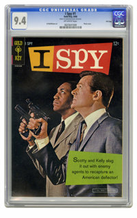 I Spy #1 File Copy (Gold Key, 1966) CGC NM 9.4 Off-white pages. Bill Cosby and Robert Culp photo cover. Al McWilliams ar...