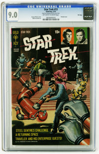 Star Trek #13 File Copy (Gold Key, 1972) CGC VF/NM 9.0 Off-white to white pages. George Wilson painted cover. Alberto Gi...