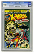 Bronze Age (1970-1979):Superhero, X-Men #94 (Marvel, 1975) CGC VF/NM 9.0 Off-white pages. Debut ofthe new X-Men in this series. Second appearance of Colossus...
