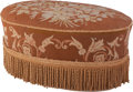 Furniture : Continental, A Turkish-Style Upholstered Ottoman, 20th century. 16-1/2 h x 34 w x 19-1/2 d inches (41.9 x 86.4 x 49.5 cm). ...
